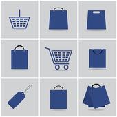 Shopping icons vector set eps10