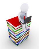 člověk používá technologii k získání znalostí