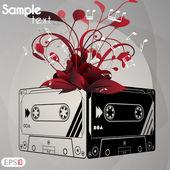 Audiocassette Vector illustration