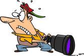 Rajzfilm nagy kamera lencséje