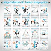 Mega kolekce deseti moderní origami podnikání ikona muž možností stylu banner 3