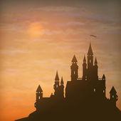 Fantazie vektorové hrad moonlight obloha