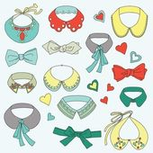 Cute set of rendy collars and bow ties