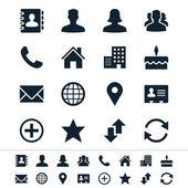 Lépjen kapcsolatba a ikonok