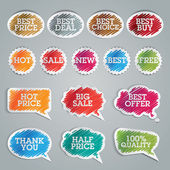 Set of colorful vector stickers