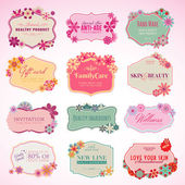 Set of cosmetics labels and stickers