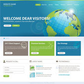 Business website vector template