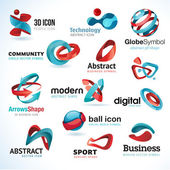 Set of modern business abstract icons