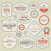 Ensemble d'autocollants et étiquettes vintage