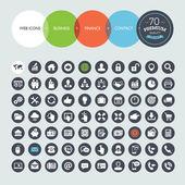 Sada webových ikon pro podnikání, financí a komunikaci