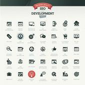 SEO a rozvoj sada ikon