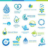 Set of vector icons for waters