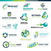 Set of different vector business abstract icons