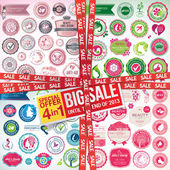 Set of labels, banners, stickers, badges and elements for beauty, cosmetics and health care