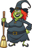 Evil cartoon witch