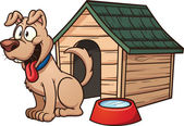 Cartoon dog house Vector clip art illustration with simple gradients Each element in a separate layer for easy editing