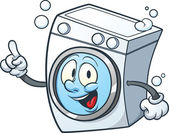 Cartoon washing machine Vector clip art illustration with simple gradients All in a single layer
