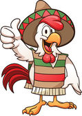 Cartoon mexican chicken Vector clip art illustration with simple gradients All in a single layer