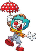 Cartoon clown Vector clip art illustration with simple gradients All in a single layer