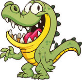 Cartoon crocodile Vector clip art illustration with simple gradients All in a single layer