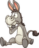 Confused cartoon donkey Vector clip art illustration with simple gradients All in a single layer