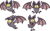 Cartoon bat in different poses Vector clip art illustration with simple gradients Each on a separate layer