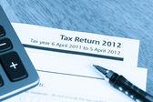 Formulář daňového přiznání 2012