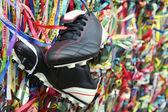 Hodně štěstí fotbalové boty brazilské přání stuhy salvador bahia