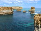 A tengerparton, sziklás kialakulását. nagy ocean road, Ausztrália, victoria, nemzeti park