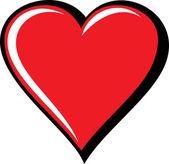 Großes rotes Herz, isoliert auf weißem Hintergrund, Vektor-illustration