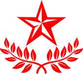 Star and laurel wreath