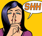 Nő a csend jele pop-art