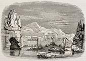 Terra Adelie scoperta in Antartide, di Corvette francese astrolabe e della zelee. creato da lebreton, pubblicato su magasin pittoresque, Parigi, 1842