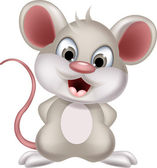 Süße Maus Cartoon posiert