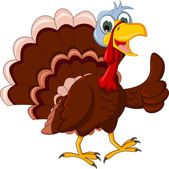 Funny Turkey Cartoon posing