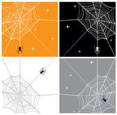 Cartoonish vector illustration of spider webs Can be used as a seamless background or as a single illustration