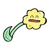Flower dandelion cartoon character