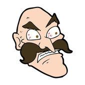Karikatura zlobí starý muž
