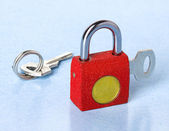 Visací zámek s klíčem