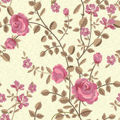 Floral seamless pattern of blooming roses