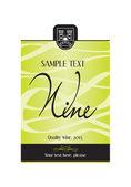 Víno návrh štítku - vektor