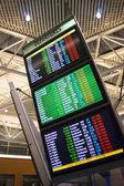 Großen beleuchteten Zeichen informative Abreise mal Flughafen Transport center