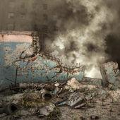 Város romjai és törmelék