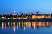 Varšava, město v noci