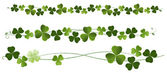 Shamrocks Clovers Dividers StPatric Day Using Clipping mask transparency gradation EPS10