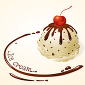 Vanilla Ice cream with chocolate sauce