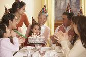 Családi születésnapi party-hispán lány