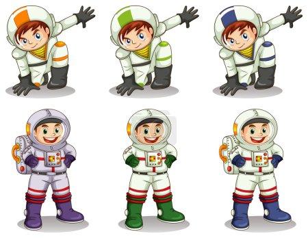 Постер, плакат: Young astronauts, холст на подрамнике