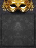 Zdobené masku na Maškarní na tmavém pozadí
