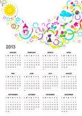 Calendario per il 2013. un vettore